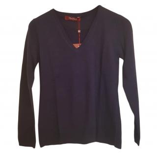 Max Mara Navy Virgin Wool Jumper