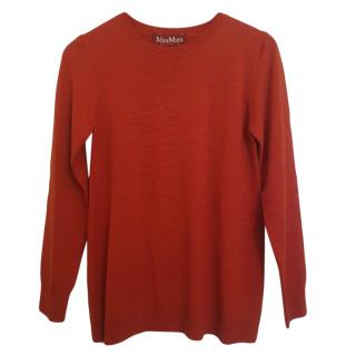 Max Mara brick red wool jumper