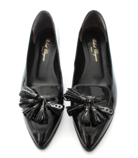 Robert Clergerie black patent tassel pumps
