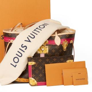 Louis Vuitton Monogram Summer Trunks Neverfull MM Tote