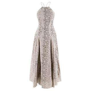 Zimmermann Snake Print Halterneck Dress