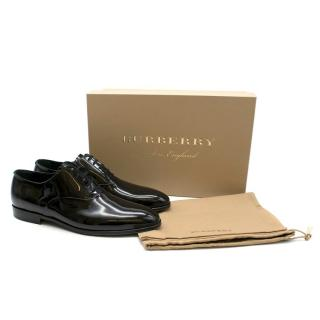 Burberry Black Patent Leather Oxford Shoes