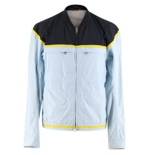 Prada Blue Colourblock Lightweight Nylon Jacket