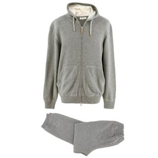 Brunello Cucinelli Grey Cashmere Track Set