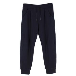 Emporio Armani Navy Wool Blend Sweatpants