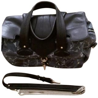 Bally Large Floral Blue Handbag