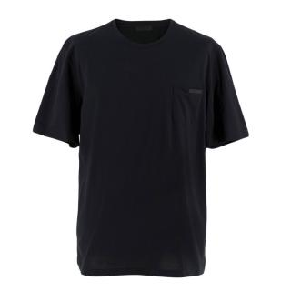 Prada Black Stretch Cotton T-shirt