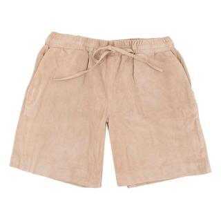 Victoria Beckham Nude Suede Bermuda Shorts