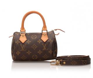 Louis Vuitton Monogram Mini Speedy Bag with Strap