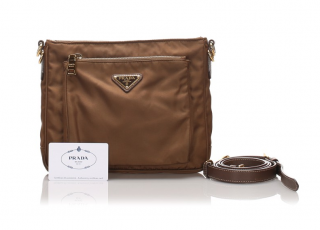 Prada Brown Nylon Crossbody Bag