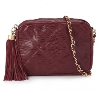 Chanel CC Lizard Leather Camera Bag
