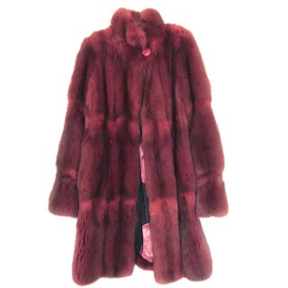 Bespoke Red Sable Fur Coat