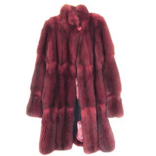 Bespoke Red Sable Fur Coat