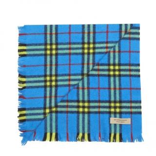 Burberry large blue check scarf