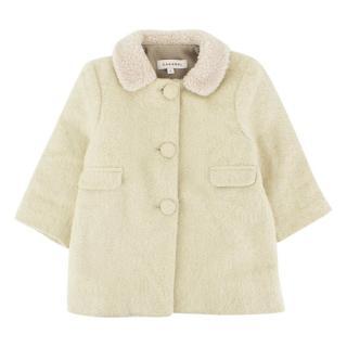 Caramel Light Green Wool Baby Coat