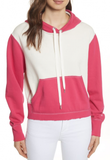 Rag & Bone Shrunken Colour Block Hoodie