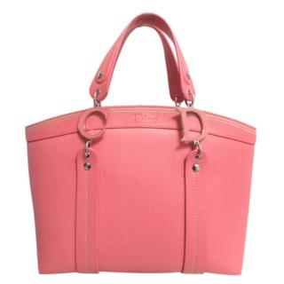 Dior Rose Pink Grained Leather Tote Bag