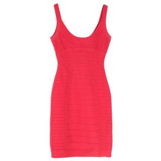 Herve Leger Pink Amanda Bandage Dress