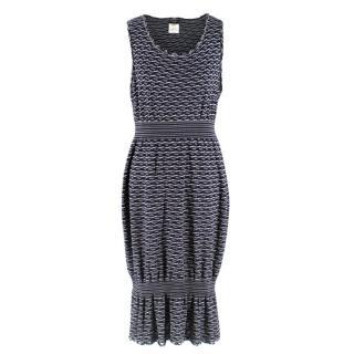 Chanel Navy Knit Sleeveless Dress