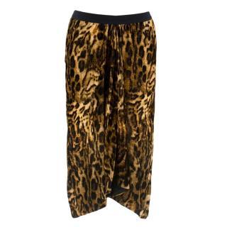 Isabel Marant Ruched Leopard-Print Skirt
