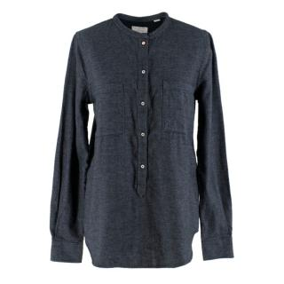 Chinti and Parker Blue Denim Flannel Organic Cotton Shirt