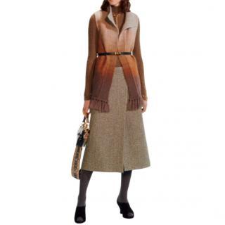 Dior brown fringed cardigan