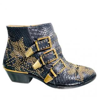 Chloe python susanna ankle boots