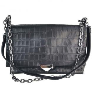 Emporio Armani Crocodile Print Shoulder Bag