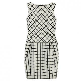 Dior Black & White Printed Sheath Dress