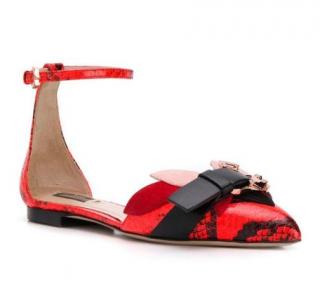 Paula Cademartori Goat Skin Calla Exotic Flow Sandals