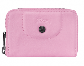 Longchamp Baby Pink Compact Coin Purse
