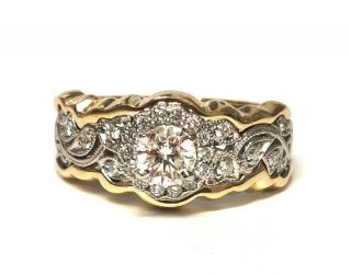 S.Kashi yellow and white gold diamond ring