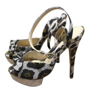 Charlotte Olympia leopard print ankle strap sandals