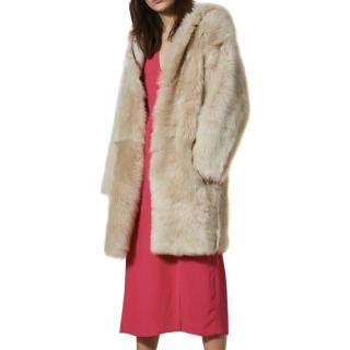 Topshop Boutique Toscana hooded sheepskin coat