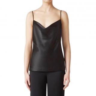 Galvan black silk camisole top