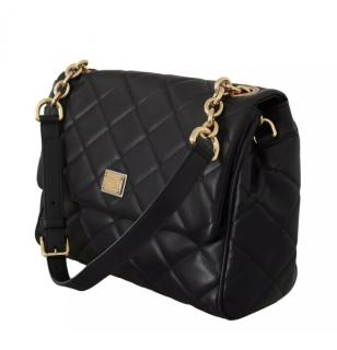 Dolce & Gabbana Black Quilted Nappa Leather Shoulder Bag