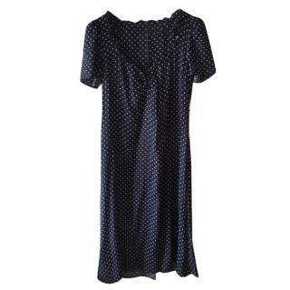 Reformation Polka Dot Ruffled Dress