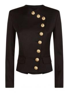 Balmain Short Black Asymmetric Jacket