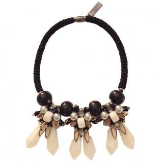 Weekend MaxMara Resin Floral Embellished Necklace