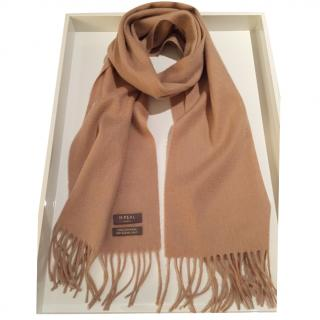 N.Peal Camel Mongolian Cashmere Scarf