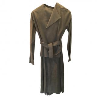 Amanda Wakeley Grey Suede Dress & Coat
