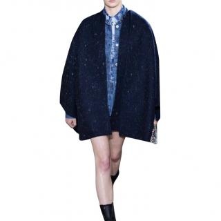 Dior Double Faced Wool Runway Cape