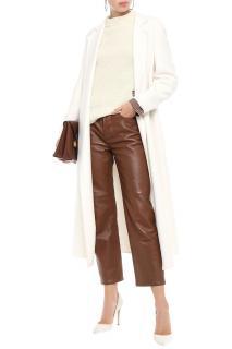 Joseph Belted brushed wool & cashmere-blend coat