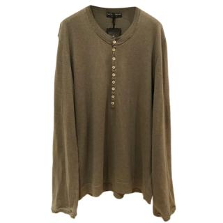 Dolce & Gabbana Khaki Long Sleeve Top