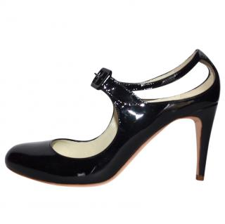 Rupert Sanderson Ulla Black Patent Leather Pumps