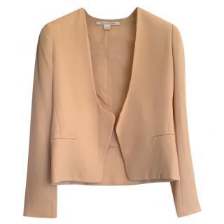 Diane Von Furstenberg Peach Cropped Open Jacket