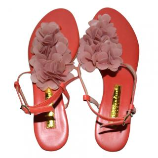 Rupert Sanderson florinda pvc-trimmed leather sandals