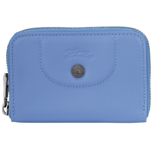 Longchamp Cornflower Blue Compact Coin Purse
