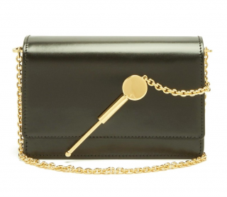 Sophie Hulme Khaki Mini Cocktail Stirrer cross-body bag