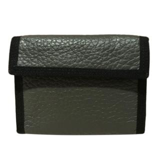 Maison Margiela Grey Grained Leather Wallet